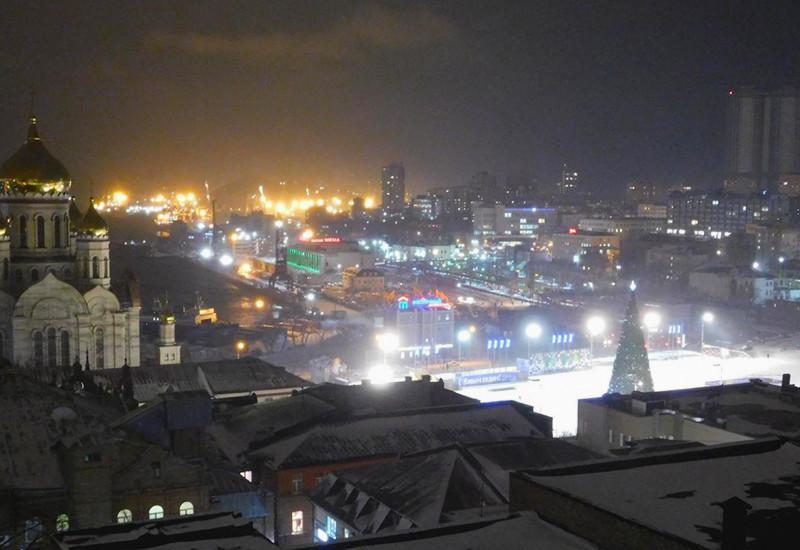 ウラジオストクの雪景色