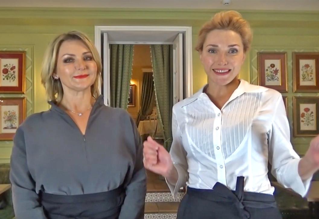レシピ動画のナビゲーターアンナ・ルセンコさんとウラジーミル・ルセンコさん