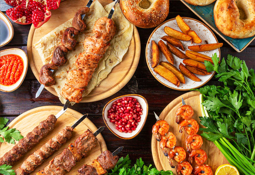 中央アジア料理フローパク(Хлопок)の料理