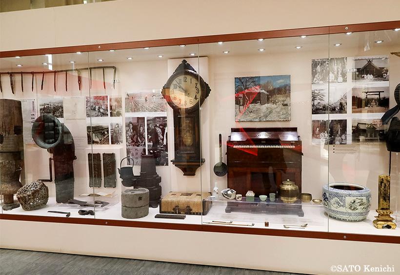 樺太時代の日本人の暮らしを伝える展示