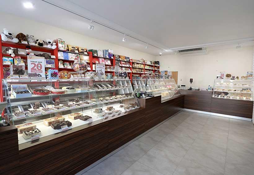 チョコレートショップ店内