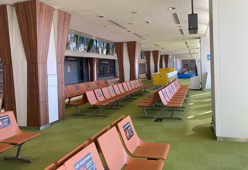 成田空港第一ターミナル 無人の搭乗待合室