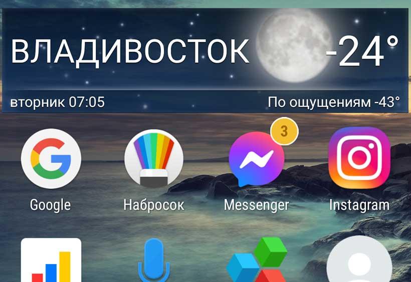 気温がマイナス24度を示す携帯画面