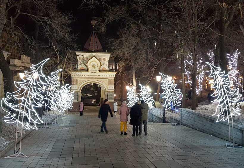 ウラジオストクのクリスマスイルミネーション