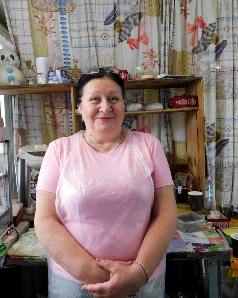 ピロシキ屋店主のエレナさん