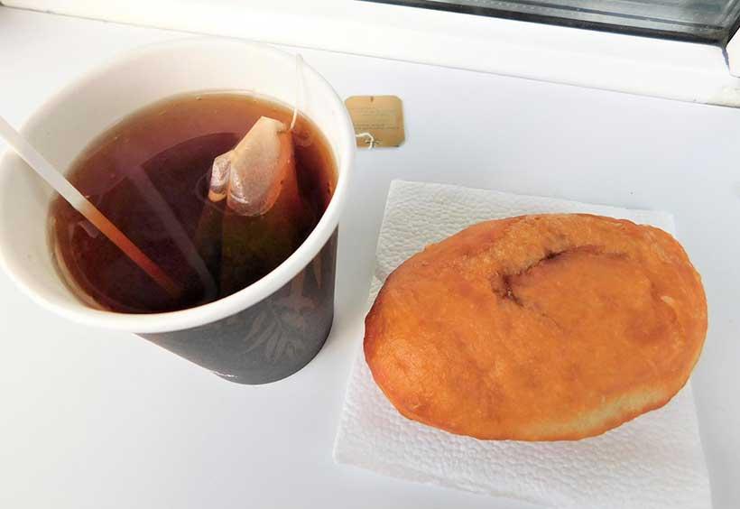 ピロシキと紅茶