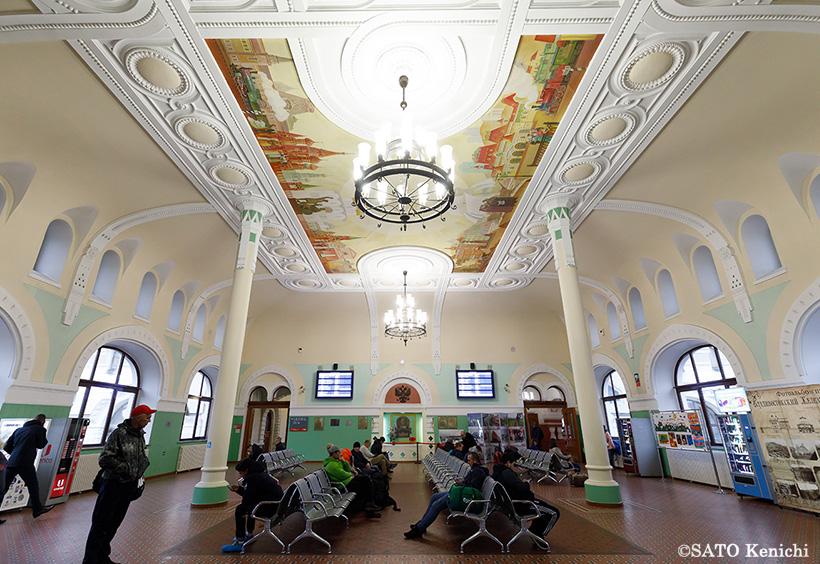 ウラジオストク駅舎の待合室