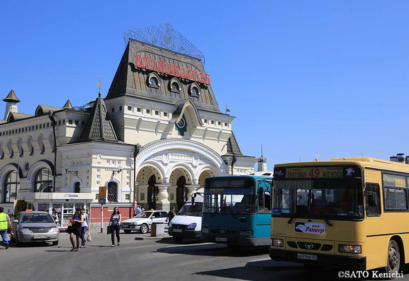 ウラジオストク駅舎の外観