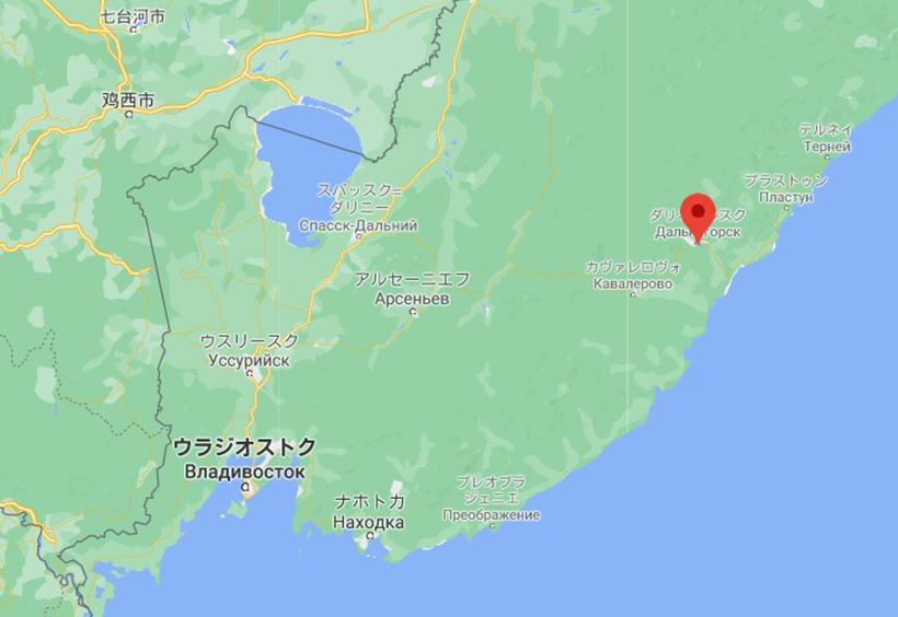 ダリネゴルスクを示す地図