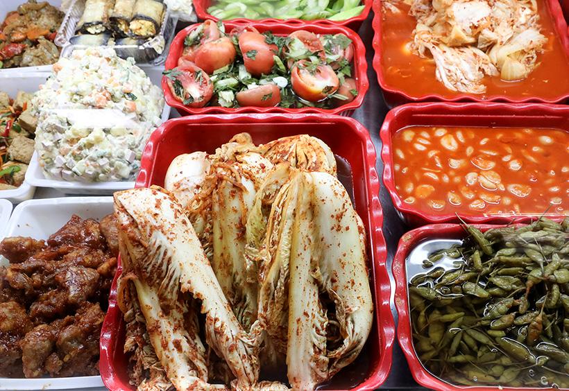 キムチなどの韓国のお惣菜