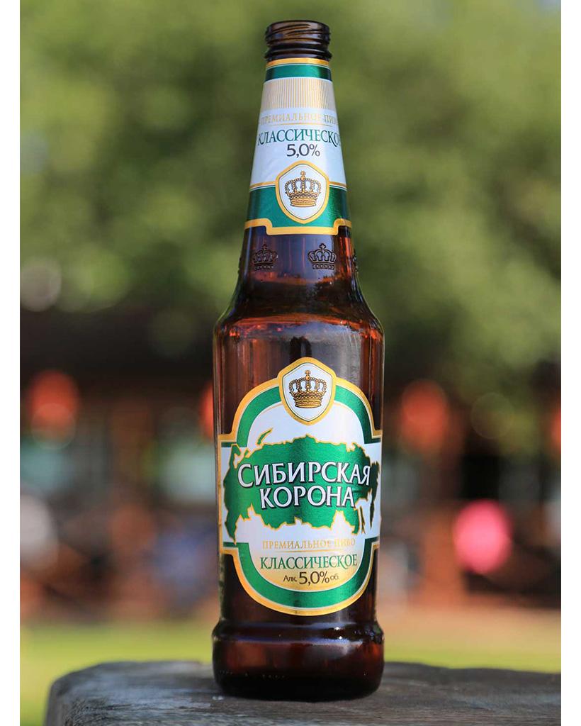 ロシア産の瓶ビール1