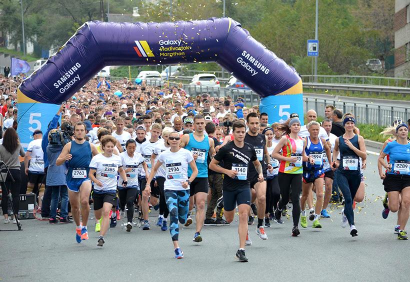 ウラジオストク国際マラソン2019年大会の様子