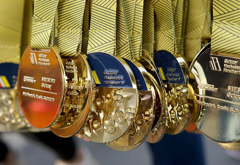 ウラジオストク国際マラソンのメダル