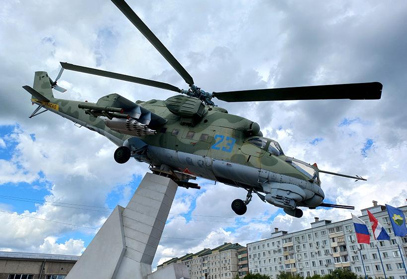 実物大のヘリコプター